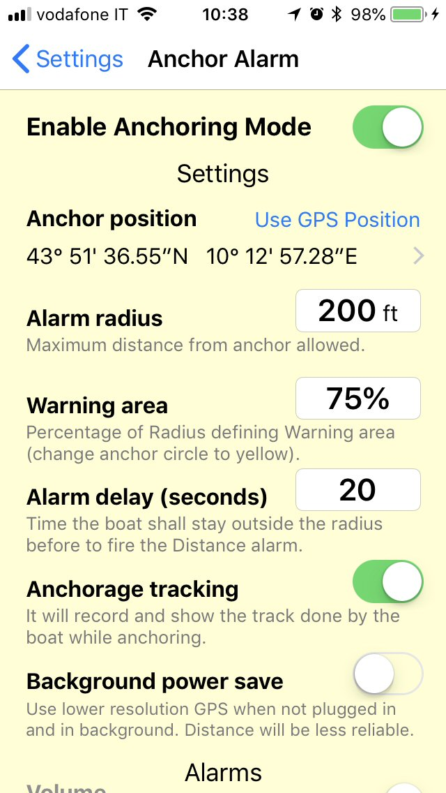 Anchor Alarm