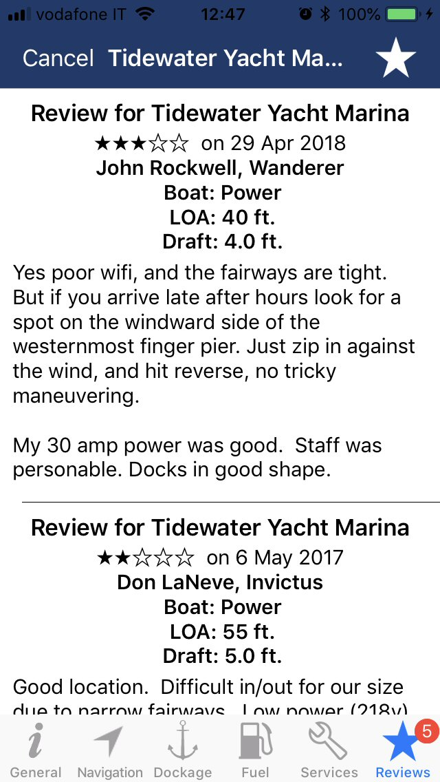 Waterway Guide Info